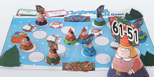Subtraction from 100 Christmas Board Game - Games, Activity