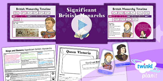 PlanIt - History KS1 - Kings and Queens Lesson 2: Significant British Monarchs Lesson Pack