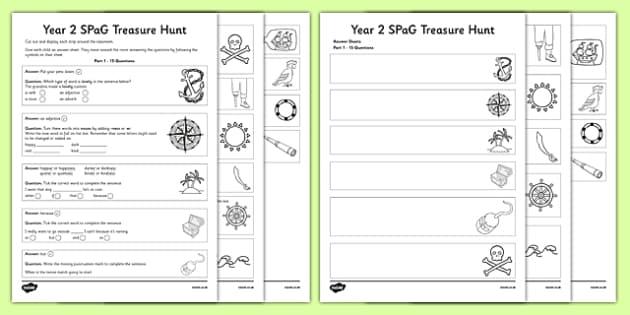 Year 2 SPaG Treasure Hunt