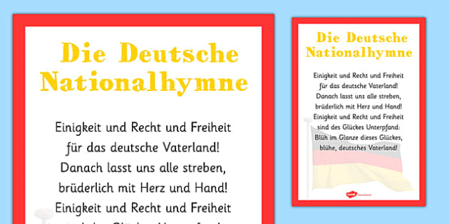 Die Deutsche Nationalhymne - german, die deutsche nationalhymne, national anthem, german national anthem, lyrics