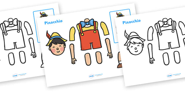 Split Pin (Pinoccio Characters) - education, home school, free