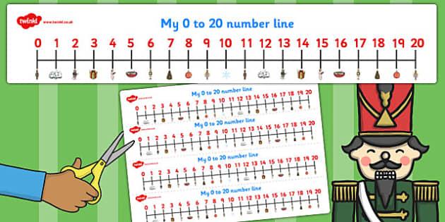 The Nutcracker Number Lines 0-20 - nutcracker, number line, 0-20