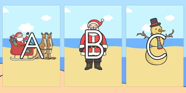 Australia A-Z on Australian Christmas Images - A-Z, alphabet, christmas