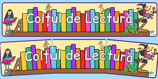 Coltul de Lectura, Banner - décor clasa, grupa