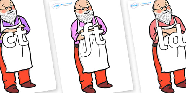 Final Letter Blends on Mr Clause to Support Teaching on The Jolly Christmas Postman - Final Letters, final letter, letter blend, letter blends, consonant, consonants, digraph, trigraph, literacy, alphabet, letters, foundation stage literacy