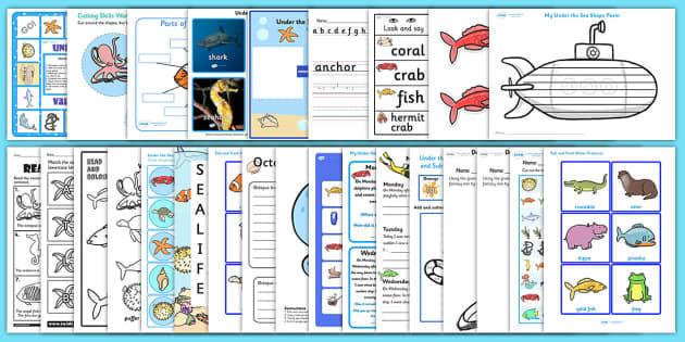 Under the Sea Activity Pack - activities, classroom activities