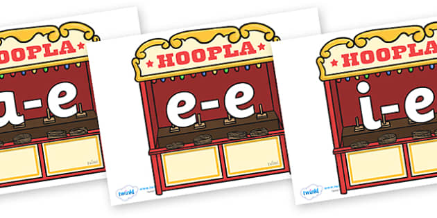 Modifying E Letters on Hoopla Stands - Modifying E, letters, modify, Phase 5, Phase five, alternative spellings for phonemes, DfES letters and Sounds