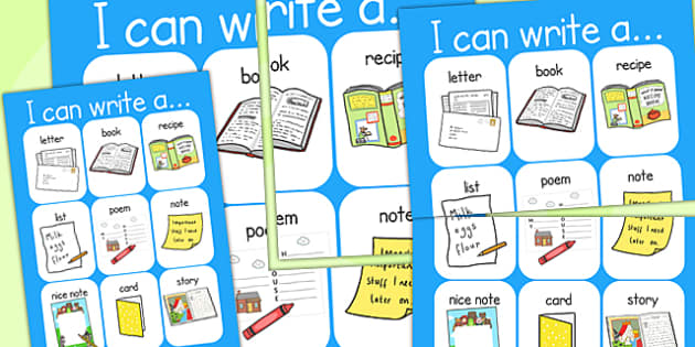 I Can Write A Display Poster - writing aid, display, posters