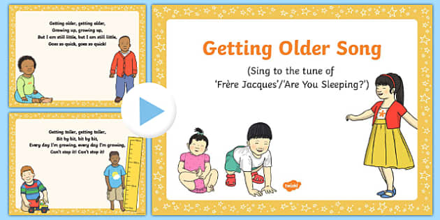 Getting Older Song PowerPoint