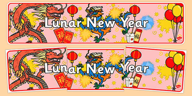 Lunar New Year Display Banner - new year, display banner, display, banner, lunar, lunar new year