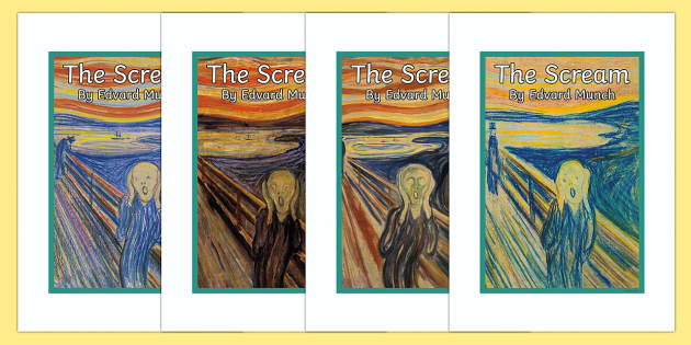 The Scream by Edvard Munch Display Poster - the scream, edvard munch, paint, painting, painter, artist, famous, display poster