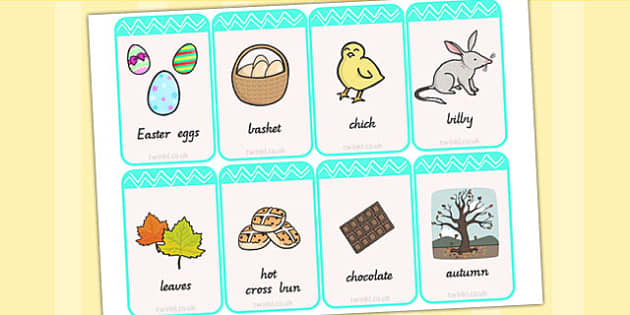 Easter Flashcards - easter, religion, RE, word cards, visual aid