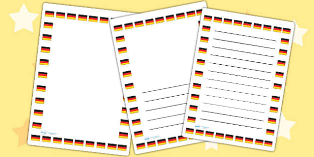 German Flag Page Borders - german, flag, page borders, borders
