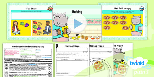 Planit Y1 Multiplication and Division Lesson Pack Doubles and Halves (2) - doubles, halves, doubling, halving, equal sharing, same size groups, multiplying and dividing by two, two times table, 2 x table, planning