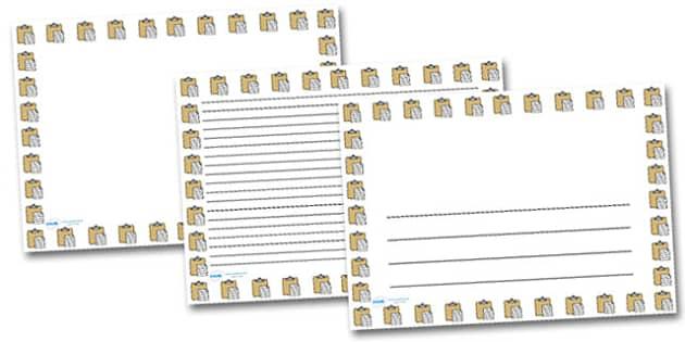 Copy and Paste Landscape Page Borders- Landscape Page Borders - Page border, border, writing template, writing aid, writing frame, a4 border, template, templates, landscape