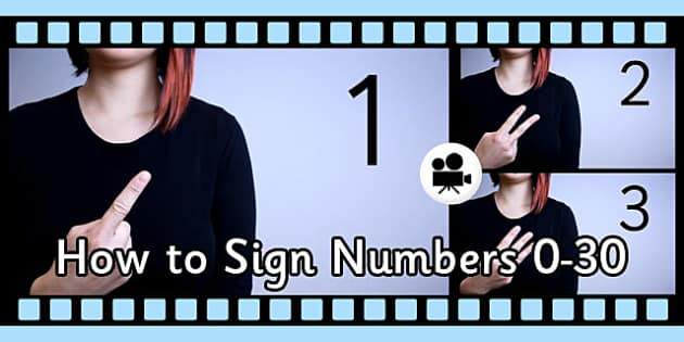 How Sign Numbers 0-30 British Sign Language Close Up Video Clip