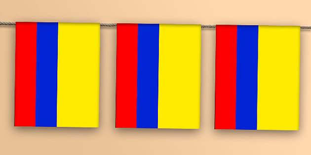 Colombia Flag Bunting - colombia flag, colombia, flag, bunting, display bunting, display