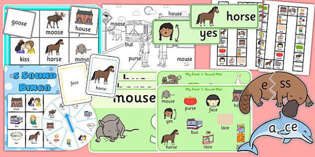Word Final s Pack - word, final, s, pack, final s, sound, sen