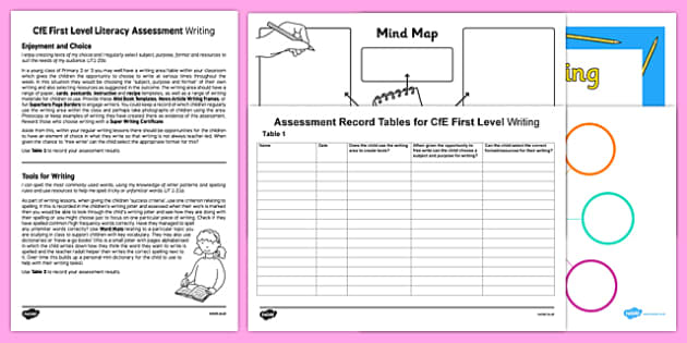 CfE First Level Writing Assessment Pack - cfe, first level, writing assessment, pack
