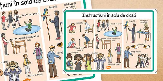 Instrucțiuni în sala de clasă - Planșă cu reguli