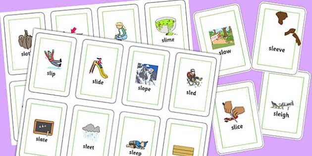 SL Flash Cards - sen, sound, special educational needs, sl, flash cards