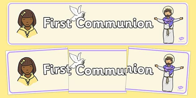 First Communion Display Banner - Communion, Eucharist, banner, display, sacraments