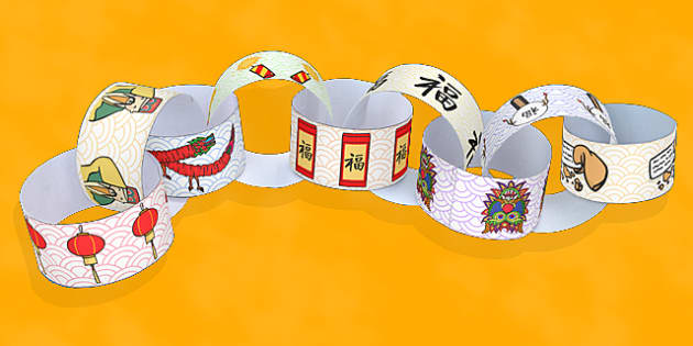 Chinese New Year Paper Chain - Activity, Activities, Chains