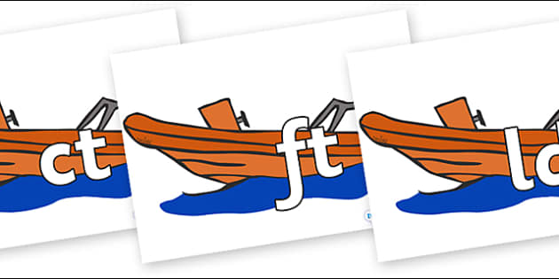 Final Letter Blends on Lifeboats - Final Letters, final letter, letter blend, letter blends, consonant, consonants, digraph, trigraph, literacy, alphabet, letters, foundation stage literacy