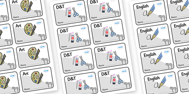 Zebra Themed Editable Book Labels - Themed Book label, label, subject labels, exercise book, workbook labels, textbook labels