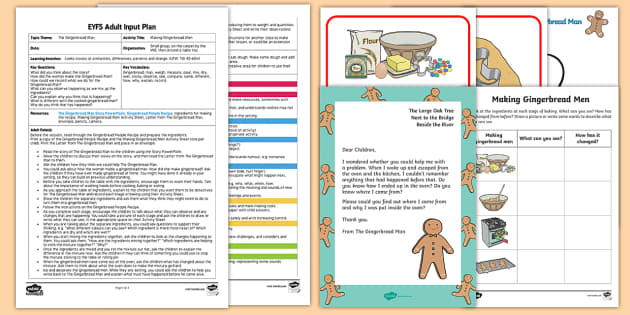 EYFS Making The Gingerbread Man Adult Input Plan and Resource Pack - The Gingerbread Man, Traditional Tales, baking, utw, science, 40-60, observe, explain, changes, diff