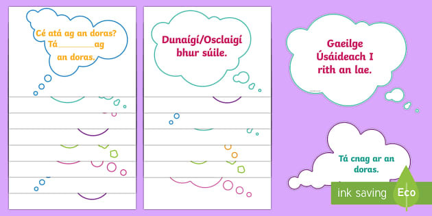 Gaeilge Neamhfhoirmiúil KS1 Display Pack-Irish - Gaeilge KS1 Display, irish, gaelige, greetings, daily routine,Irish