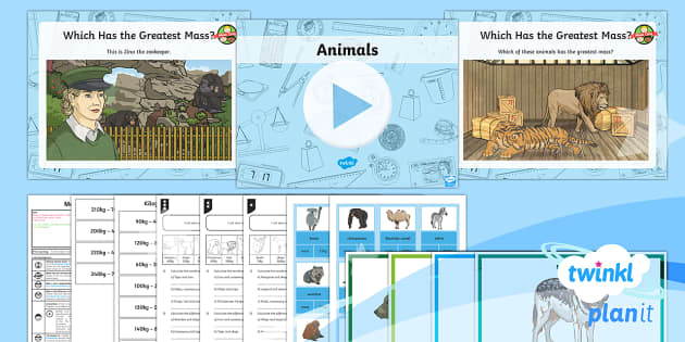 PlanIt Y3 Measurement Lesson Pack Mass (4) - Measurement, add, subtract, difference, total, word problems, mass, measure compare add and subtract