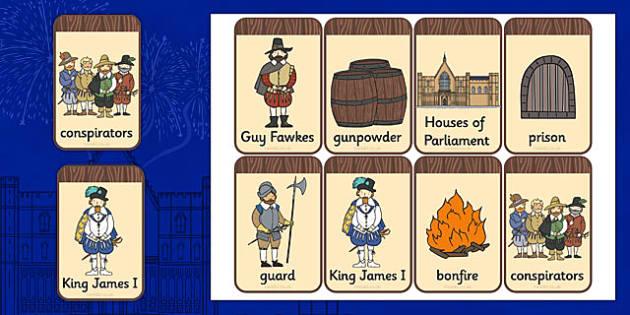 The Gunpowder Plot Flashcards - Gunpowder, Guy, Fawkes, Bonfire