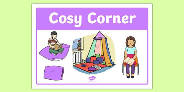 Cosy Corner Display Poster