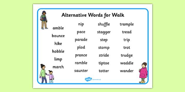 Alternative Words for Walk Word Mat - alternative word, walk, word mat, word, mat, alternative