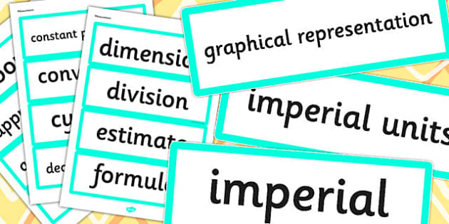 Year 6 2014 Curriculum Measurement Vocabulary Cards - vocab cards