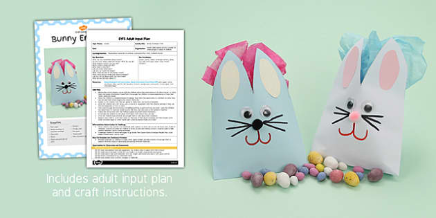 Bunny Envelope Craft EYFS Adult Input Plan and Craft Pack - craft, pack