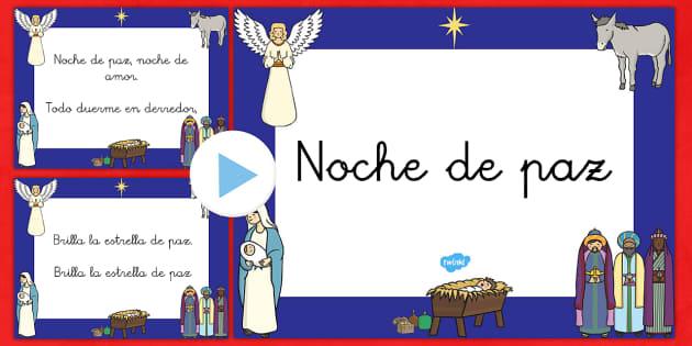 Noche de paz Presentación - villancicos, canciones, cantar, canciones navideñas, navidad,Spanish