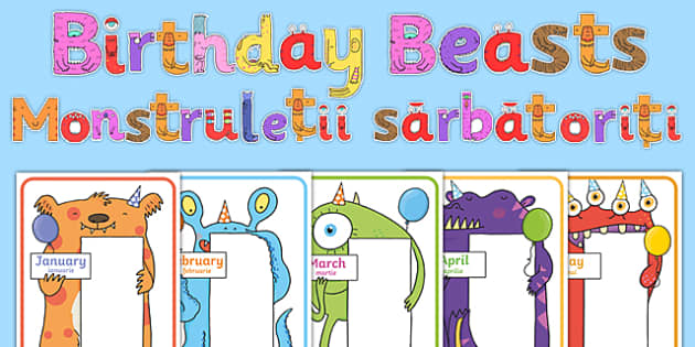 Birthday Beasts Display Pack Romanian Translation-Romanian-translation