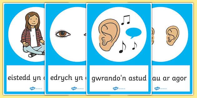 Good Listening Posters Cymraeg - welsh, cymraeg, good listening, posters, display