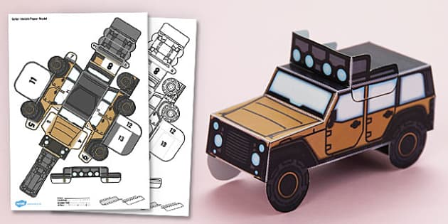 3D Safari Vehicle Paper Model Activity - paper craft, display, role play, KS1, KS2