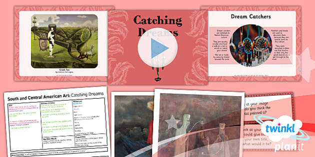 PlanIt - Art UKS2 - South and Central American Art Lesson 3: Catching Dreams Lesson Pack