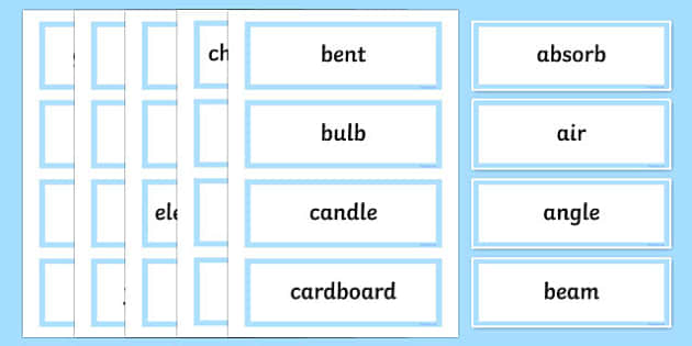Light Shows Word Wall Display Cards - australia, Australian Curriculum, Light Shows, science, Year 5, word wall, display