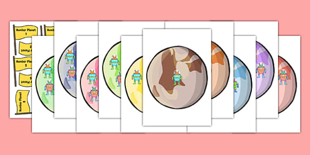 Number Planets - number planets, number, planets, counting, label