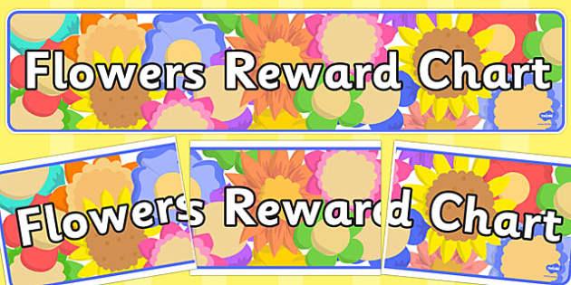 Flowers Reward Chart Display Banner - flowers, reward chart, display