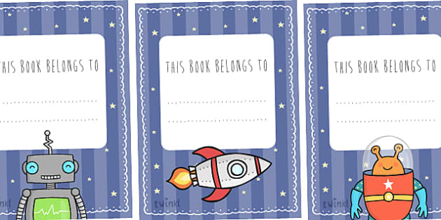 Space Themed This Book Belongs to Labels - space, this book belongs to, book labels, book name labels, space themed book name labels, space book labels