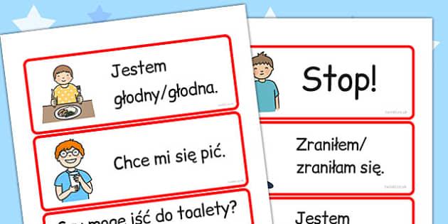 Niezbedne slownictwo po polsku - dzieci, po pobrania , Polish