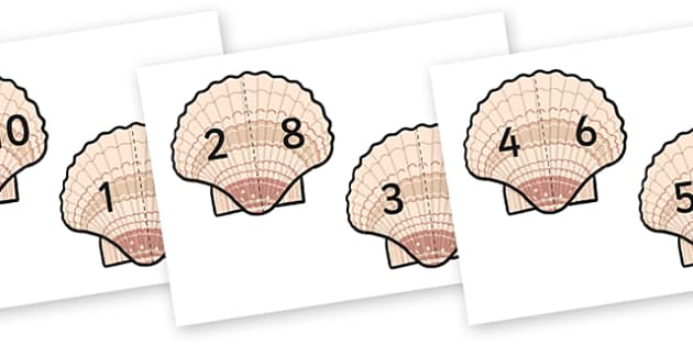 Shell Number Bonds 0-10 (Under the Sea) - shell number bonds, shell number bonds to 10, under the sea, the seaside, seaside, seaside number bonds, under the sea numbers