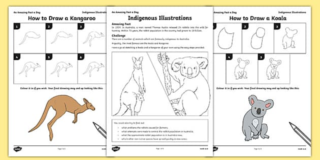Indigenous Illustrations Activity Sheet, worksheet