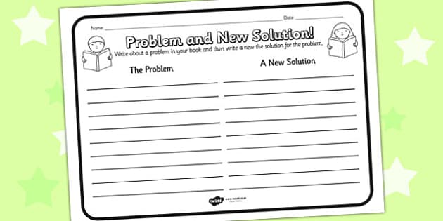 Problem And New Solution Reading Comprehension Activity - problem, solution, comprehension, comprehension worksheet, character, discussion prompt, reading